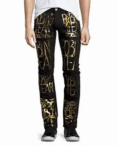 Robinu0026#39;s Jeans Skinny Jeans with Golden Logo Writing Black ...