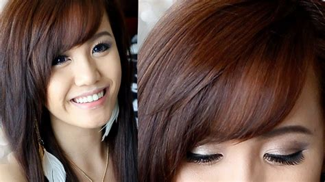How to Cut & Style Side Swept Bangs YouTube
