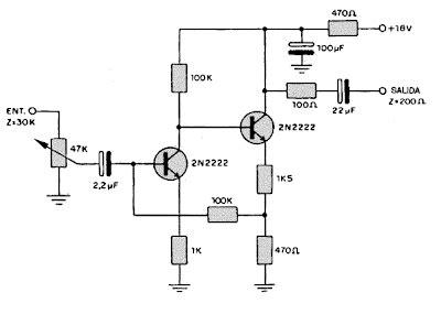 electronica circuitos diagramas circuito lificador de rf