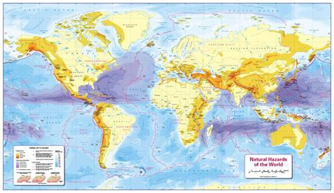 Personalised World Natural Hazards Map - £22.99 ...