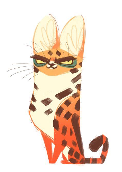 Daily Cat Drawings — 277: Serval Cat