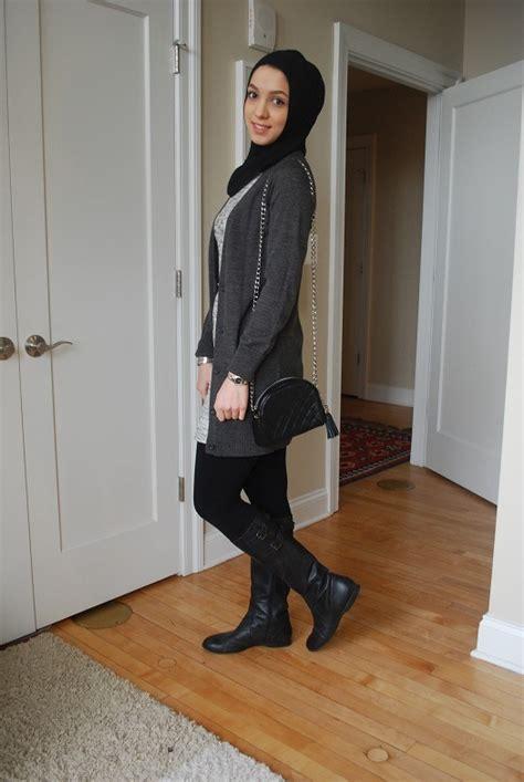 stylish ways  wear hijab  jeans  chic