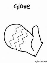 Coloring Gloves Boxing Glove Pages Colouring Winter Clipart Printable Clothes Getdrawings Getcolorings sketch template