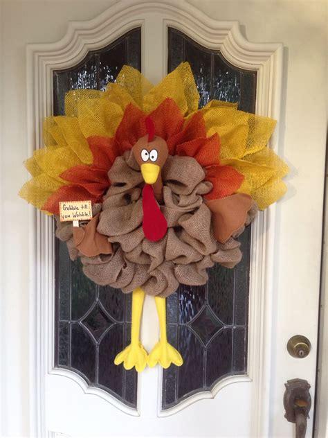 burlap turkey wreath mesh wreaths wreaths turkey