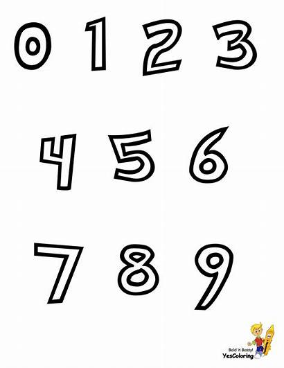 Coloring Alphabet Numbers Pages Preschool Pokemon Number