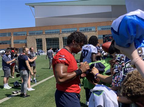 russ signature  camp today awesome day seahawks