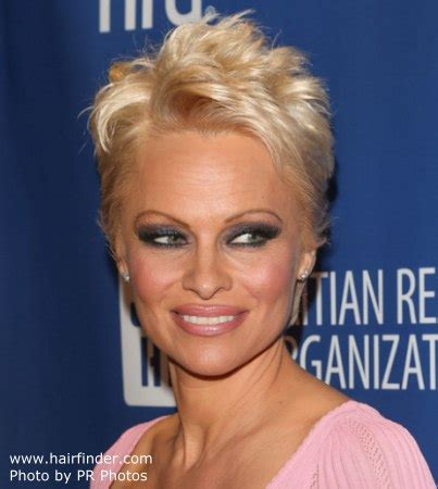 Pamela Anderson   Super short pixie haircut for blonde hair