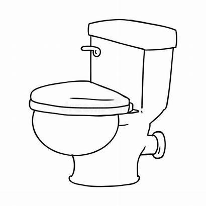 Toilet Drawing Bathroom Creative Line Doodle Cartoon