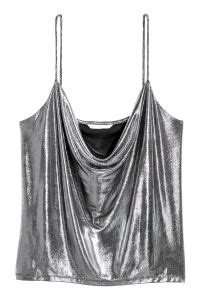 h m draped top draped top silver colored coated sale h m us