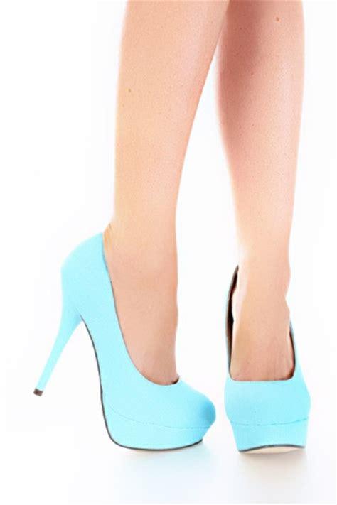 light blue heels blue high heels on green high heels pink high