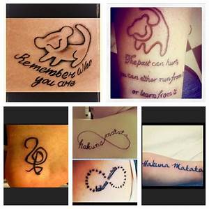 Lion King Tattoos #Hakuna Matata | Tattoos & Piercings ...