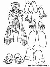 Paper Coloring Puppets Puppet Halloween Crafts Pumpkin Dolls Clipart Cut Printable Pheemcfaddell Doll Head Assemble Craft Papel Marionetas Toys Clip sketch template