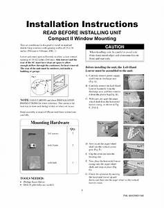 Crosley Cae12esr14 Air Conditioner Installation Guide