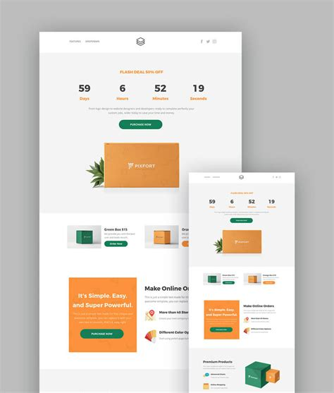 Landing Page Templates 18 Best Responsive Html5 Landing Page Templates 2018