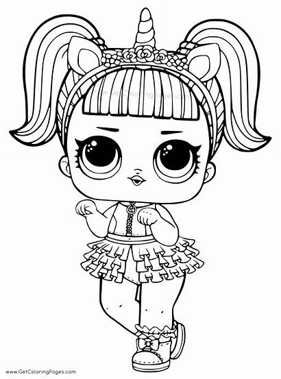 Coloring Lol Unicorn Doll Pages Getcoloringpages