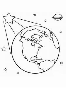 Ausmalbilder, Planeten, Erde