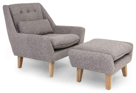 stuart modern lounge chair and ottoman 2 set