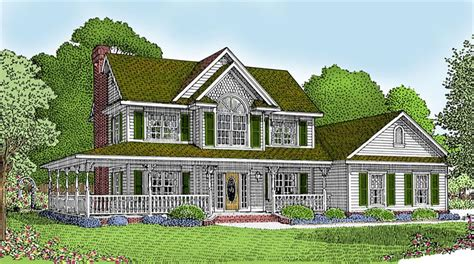 country house plans with wrap around porch awesome house plan with wrap around porch 10 country