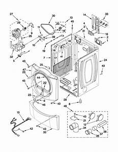 Cabinet Parts Diagram  U0026 Parts List For Model Wed9750ww0 Whirlpool