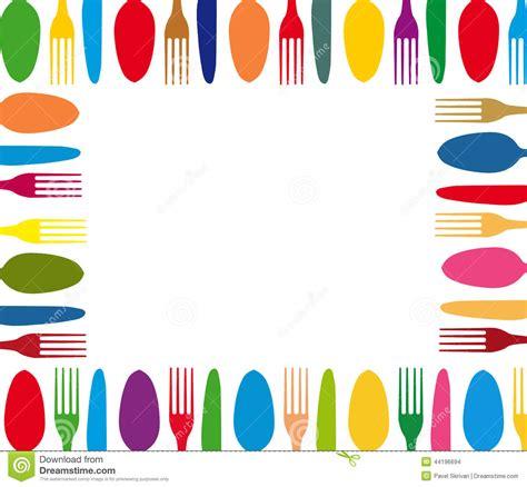 outil conception cuisine menu de fond de couleur de couverts illustration stock image 44196694