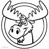 Moose Coloring Pages Printable Cartoon Clipart Head Drawing Cliparts Clip Cool2bkids Getcoloringpages Christmas Easy Library Draw sketch template