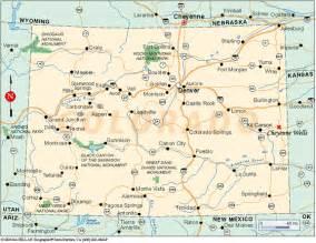 Utah and Colorado Map
