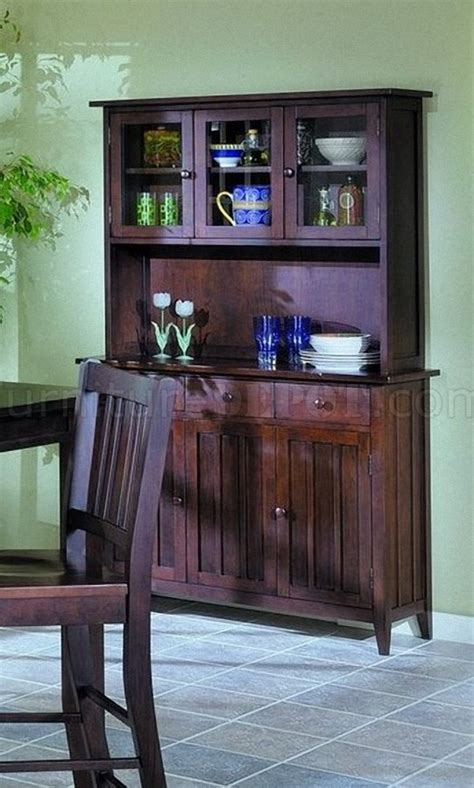 warm espresso finish casual country style china cabinet