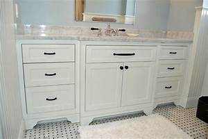 Classic white vanity traditional bathroom new york for Classic vanities bathrooms