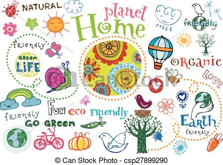 planet home doodle set planet home vector set doodles