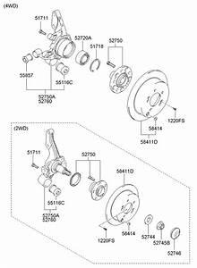 2007 Hyundai Tucson Nut - Wheel Bearing  Sachs