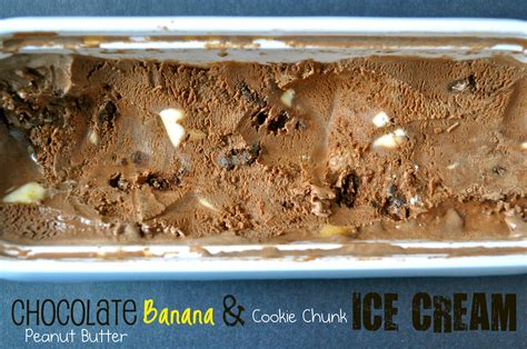 chocolate peanut butter banana cookie chunk ice cream