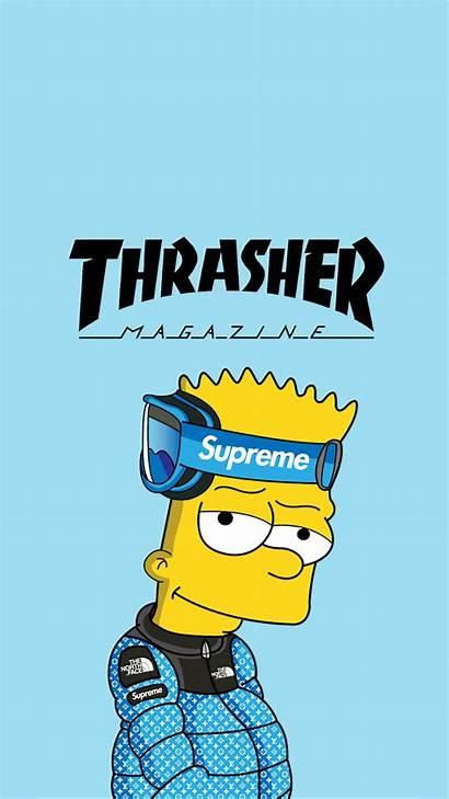 Supreme Cool Bart Wallpapers Simpson Simpsons Cartoon