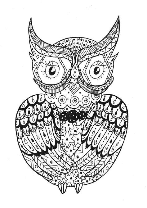 Coloring Zentangle by Owl Zentangle Zentangle Coloring Pages