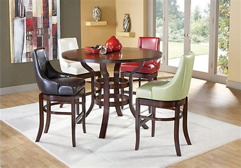 rooms to go dining sets the alder pub height dining set provides a