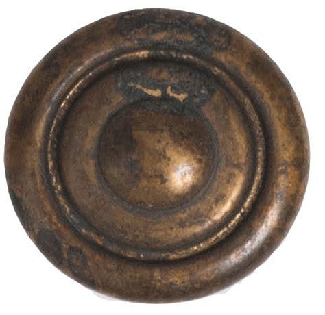 1 inch rustic circa brass cabinet knob distressed antique brass finish