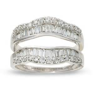 wedding ring wraps 1 ct t w and baguette wrap guard in 14k white gold view all rings zales