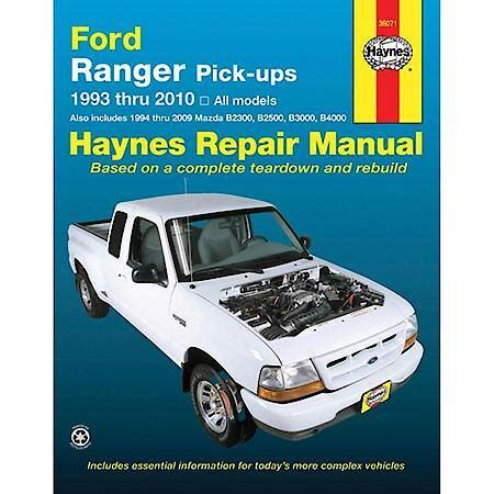 haynes ford ranger pickup   repair manual