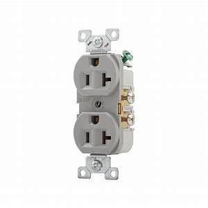 Prise 20 Ampere : shop cooper wiring devices 20 amp gray duplex electrical ~ Premium-room.com Idées de Décoration
