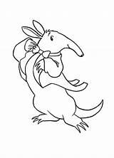 Aardvark Gentle Coloring Printable sketch template
