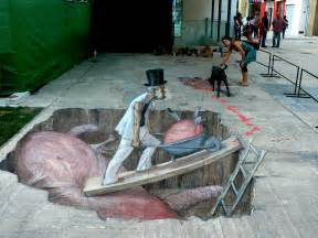anamorphic street art by eduardo relero otherfocus