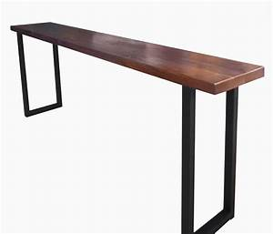 Table Bar But : buy a custom made walnut and steel console table made to order from blowing rock woodworks ~ Teatrodelosmanantiales.com Idées de Décoration