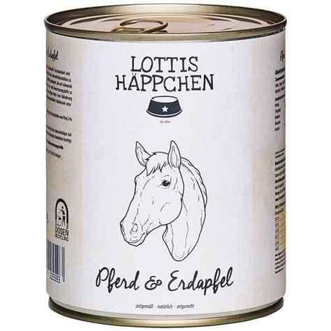 lottis haeppchen pferd mit kartoffel hunde nassfutter
