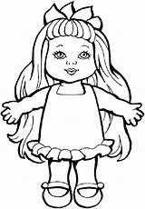 Doll Coloring Baby Pages Drawing Sheets Toys Dolls Toy Colouring Printable Action Paper Ugly Smiling Getcolorings Chica Rag Chucky Figure sketch template