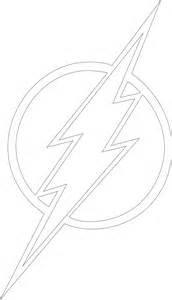 Flash Logo Outline Black White