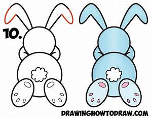 How to Draw a Cute Cartoon Sleeping Bunny Rabbit from #8 ...