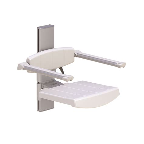 seat wall height wall mounted shower seat with backrest armrest height adjustable profilo