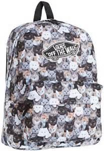 cat print backpack vans s aspca realm backpack cat print grey vans