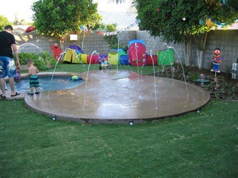 Creating An Escape At Home Splash Pads  Backyards, For