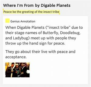 Peace be the greeting of the insect tribe – Where I'm From ...