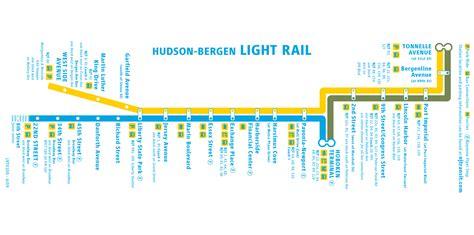 jersey city light rail light rail map nj hoboken resources services